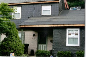 roof & siding before installation